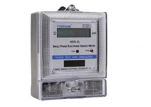 China One Card Single Phase Electronic Energy Meter / Electric KWH Meter 1 Phase 50HZ on sale