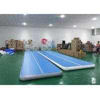 Floating water blue Inflatable Sports Games tumble track inflatable air mat for gymnastics