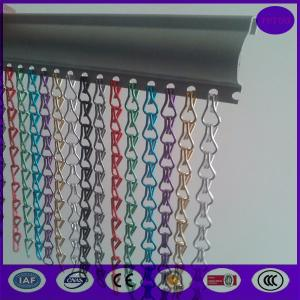 China 100% anodized aluminum chain fly link curtain screen  with special track on sale
