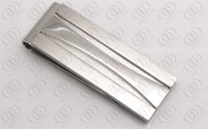 China Stylish Silver Money Clips For Men , Silver Engraved Gifts Brushed and Polished Finish on sale