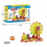Remote Control DIY Gear Building Blocks Educational Toys W / Light Music 84 Pcs