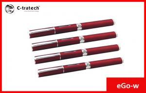 China 1100mah Ego W Electronic Cigarette , Pen E Cig Flat Drip Tip on sale