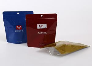 China Resealable Mylar Aluminium Foil Laminated Pouches LDPE Plastic Zipper With Hole on sale