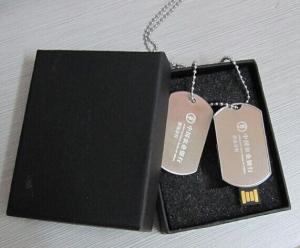 China Portable Dog Tag Chain Style Metal Unique USB Flash Drives 16GB on sale