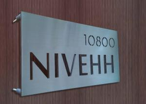 China High End Stainless Steel Door Signs , Brushed / Glossy Personalized Metal Signs on sale