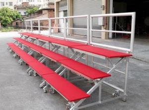 China Red Mobile Aluminum Stage Risers Non Slip For Performing Easy Installed on sale