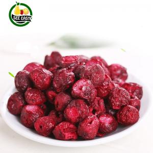 China HACCP Certified snack fruits freeze dried red sour cherry dried whole cherries on sale