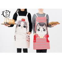 Women Kitchen Canvas Apron Polyester Jute With Pockets Extra Long Ties For Cooking Baking