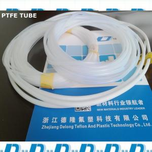 China nature white soft ptfe extrusion tube 6mm*8mm on sale