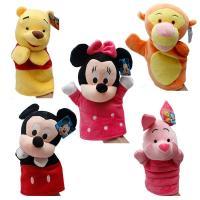 Winnie Pooh Tigger Stitch Eyore Plush Finger Puppets Yellow Pink Blue
