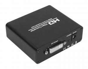 China High Definition VGA Video Converter , HDMI to DVI Converter with Coaxial Audio on sale