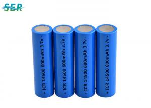 China AA Size Lithium Ion Rechargeable Battery Pack 14500 3.7v 700mah For Electric Toothbrush on sale