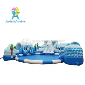 China China Price Customized 0.55MM PVC Material Giant Outdoor Land Commercial Kids Inflatable Bear Water Park For Sale on sale