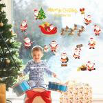 Non Toxic Christmas Wall Art Stickers PMS/CMYK Color Decorative For Window