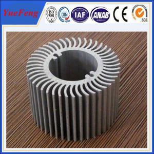 Quality Aluminum round heat sink extrusion, Custom made round clear anodized aluminum heatsink for sale