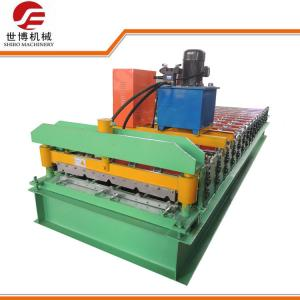 China Building Material Trapezoidal Roofing Sheet Making Machine Equipment With PLC System on sale