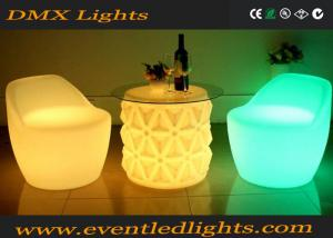 China Luminous Remote Control Led Bar Table , Small Coffee Light Up Bar Table Led Furniture on sale