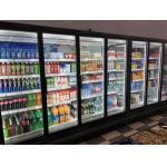 Remote Multideck Chillers With Doors , Superstore Glass Door Fridge Freezer