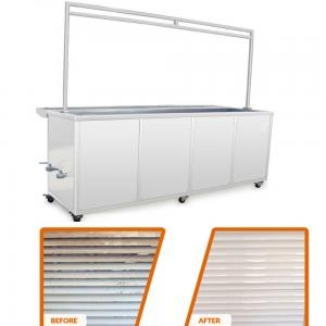 China 10 Ft Ultrasonic Blind Cleaning Equipment Wash And Rinse Heated Ultrasonic Tank on sale