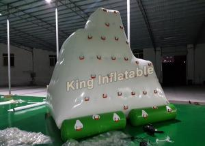 China Giant White 0.9mm PVC Inflatable Water Toy Amazing Inflatable Floating Iceberg on sale
