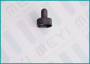 China PP Black 24/400 Rubber Dropper Bulbs With Glass Pipette , Small Glass Dropper  on sale