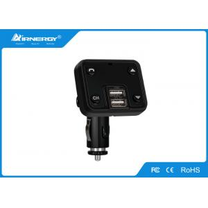 China Wireless Car Charger Bluetooth Fm Transmitter Remote Control Black Color on sale