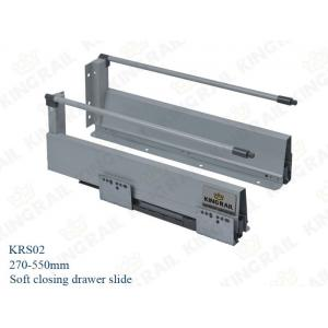 China Double Wall Metal Pot Pan Soft Close Drawer Runners Slides KRS02 on sale