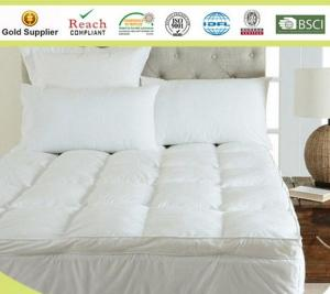 China Microfiber Baffle Boxes Self-piping Mattress Pad Toppers King Size White or Customized on sale
