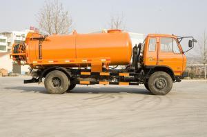 China 266 Hp Sewage Suction Trucks 6 Wheels Waste Disposal Truck Orange Tank Body 3-30m³ on sale
