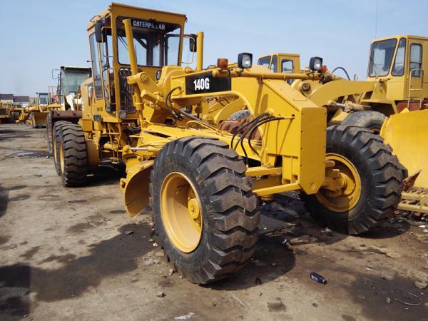 Good Condition Used CAT Grader , 140G Caterpillar Motor