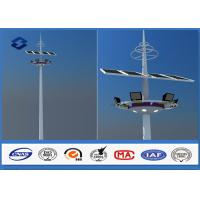 China 28m Q345 Material Customized carolina High Mast Light Pole With Lifting Systems on sale