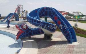China Snake Fiberglass Water Slide , Kid Cartoon Water Slides Water Entertainment on sale