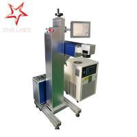 Electronic Component Flying Laser Marking Machine Industrial PVC / Cable Etcher