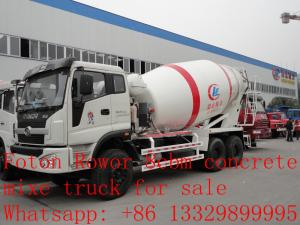 China 2017s new best price 8m3 FOTON ROWOR 6x4 concrete mixer truck for sale, factory sale good price cement mixer truck on sale