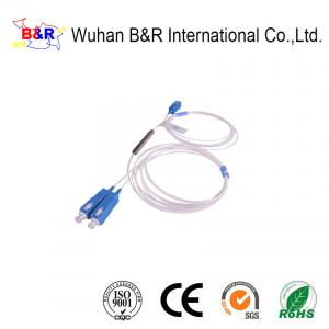 China G657A1 1x2 Fiber Optic PLC Splitter With UPC Connector on sale