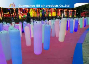 China Waterproof Inflatable Holiday Decorations / Inflatable Post With LED Light on sale