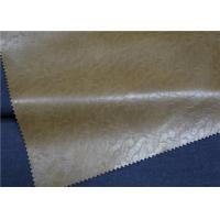 Brown Embossed Garment Leather Fabric 0.6 Mm Thickness For Men
