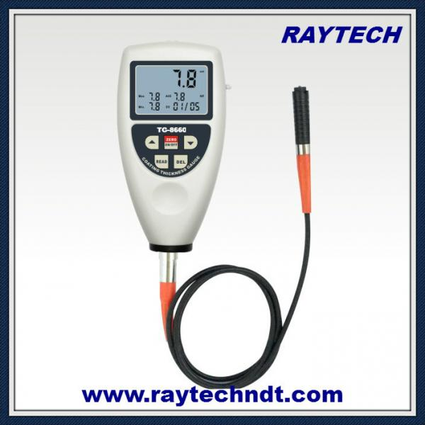 Memory Function Coating Thickness Gauge, NDT Paint Dry Film