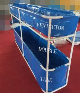 China Mini portable Simple installation Double fish pond for fish feeding in door on sale