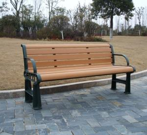 China Anti-UV WPC Outdoor Furniture and Waterproof Wood Color Park / Garden Bench on sale