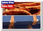 Durable 10t Orange Lifting Straps , 1 Layer Synthetic Round Slings 300mm Width