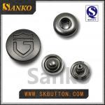 botón a presión de plata anti del nuevo metal del diseño 2016 para la ropa en de alta calidad