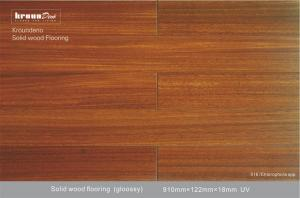 China 18mm AB Grade Okan Solid Wood Flooring Oak for Hotels decorative on sale