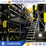 Space Saving ISO9001 CE certificated Multi level large storage capacity Tire Rack Supported Mezzanine tyre rack