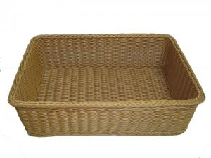 Hand Woven Rattan Shelf Bread Basket / Healthy Plastic Storage Containers