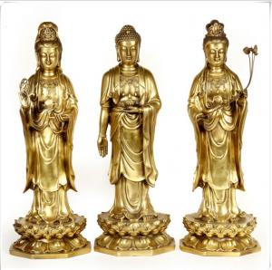 China Realistic Ancient Outdoor Brass Statue Sculptures Decoration For Public on sale