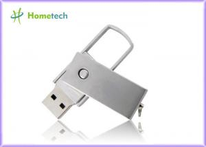 China Rectangle Metal Twist USB Sticks , Sliver 2.0 Flash Drive FOR School on sale