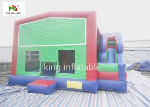China Backyard Kids Inflatable Jumping House Bounce Castle With Slide Rent EN14960 on sale
