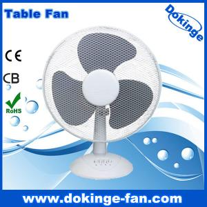 China 45W power 16 inch table fan with 120pcs grill and new PP body on sale