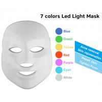 China 7 Colors LED Phototherapy Machine Skin Rejuvenation Led Face Mask Home Use on sale